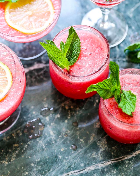 Limoncello Watermelon Prosecco Slushies