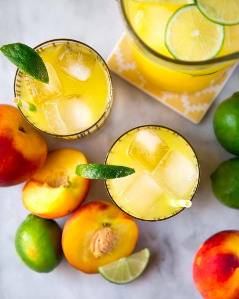 Peach Ginger Limeade