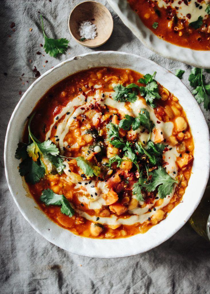 Moroccan Lentil Chickpea Soup