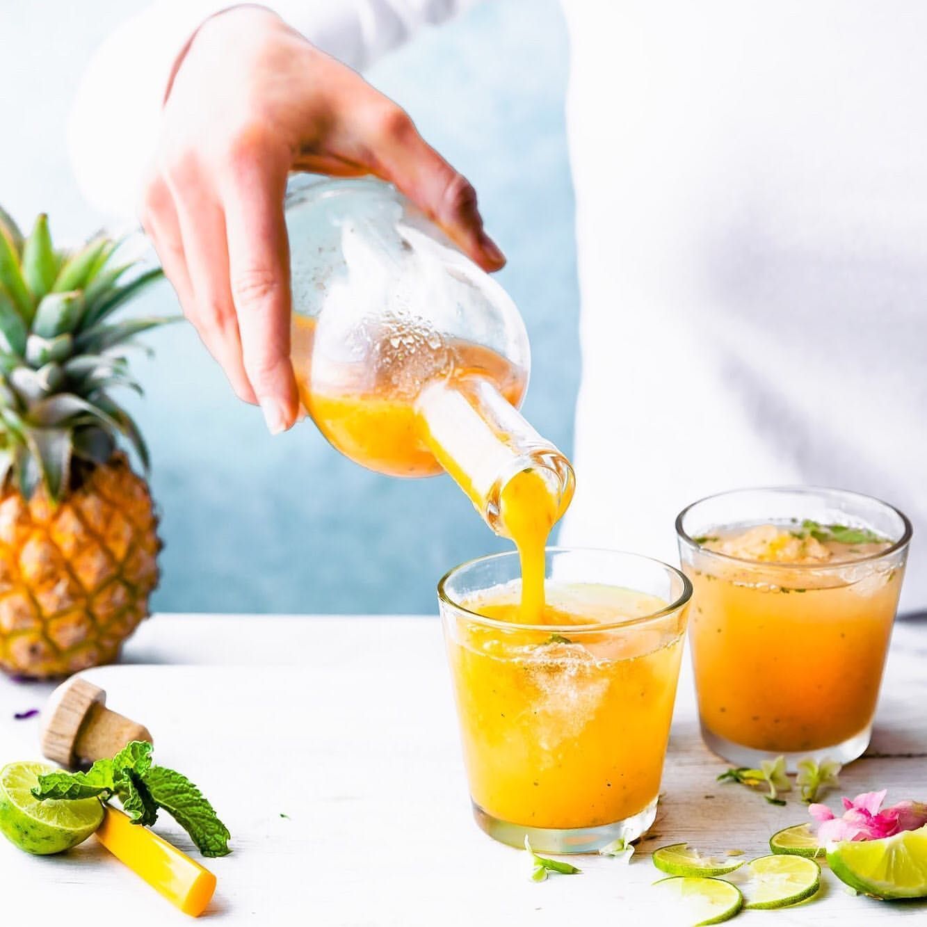 Turmeric Pineapple Shrub