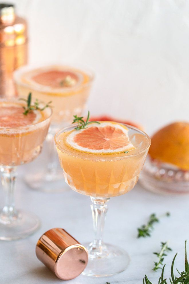 Grapefruit Thyme Rosemary Fizz