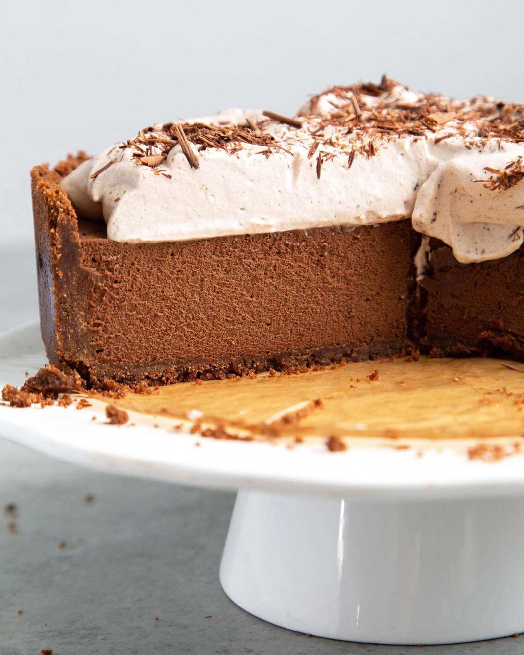 Chocolate Mousse Pie With Graham Cracker Crust By Littleepicurean Quick Easy Recipe The Feedfeed