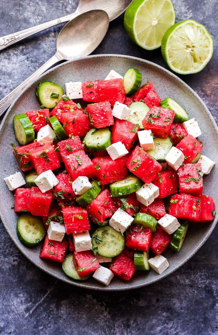 Cucumber, Feta, Watermelon Salad