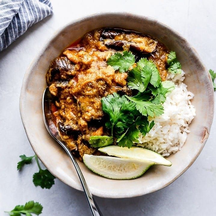 Coconut Chicken And Eggplant Curry