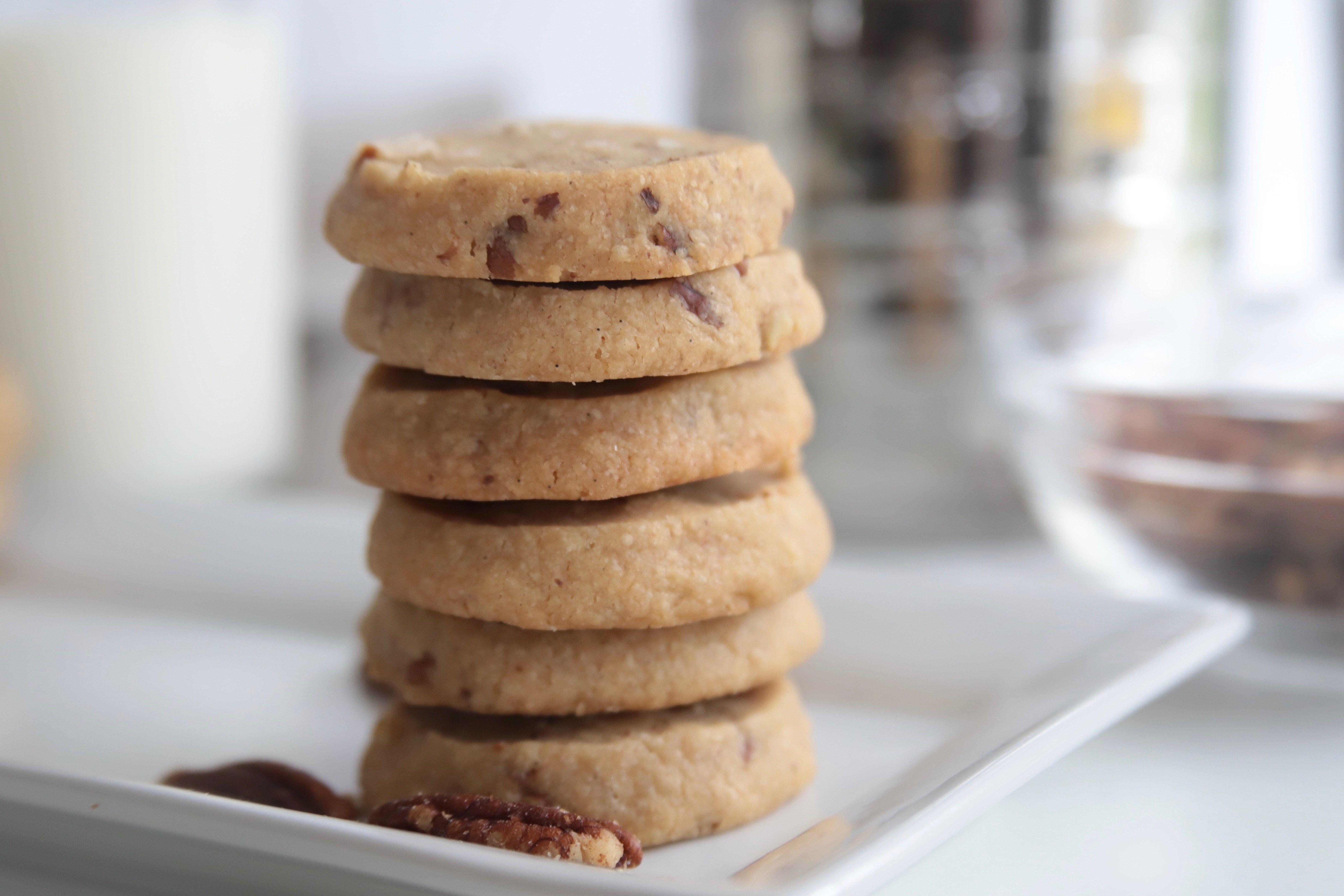 Salted Brown Sugar Pecan Cookies