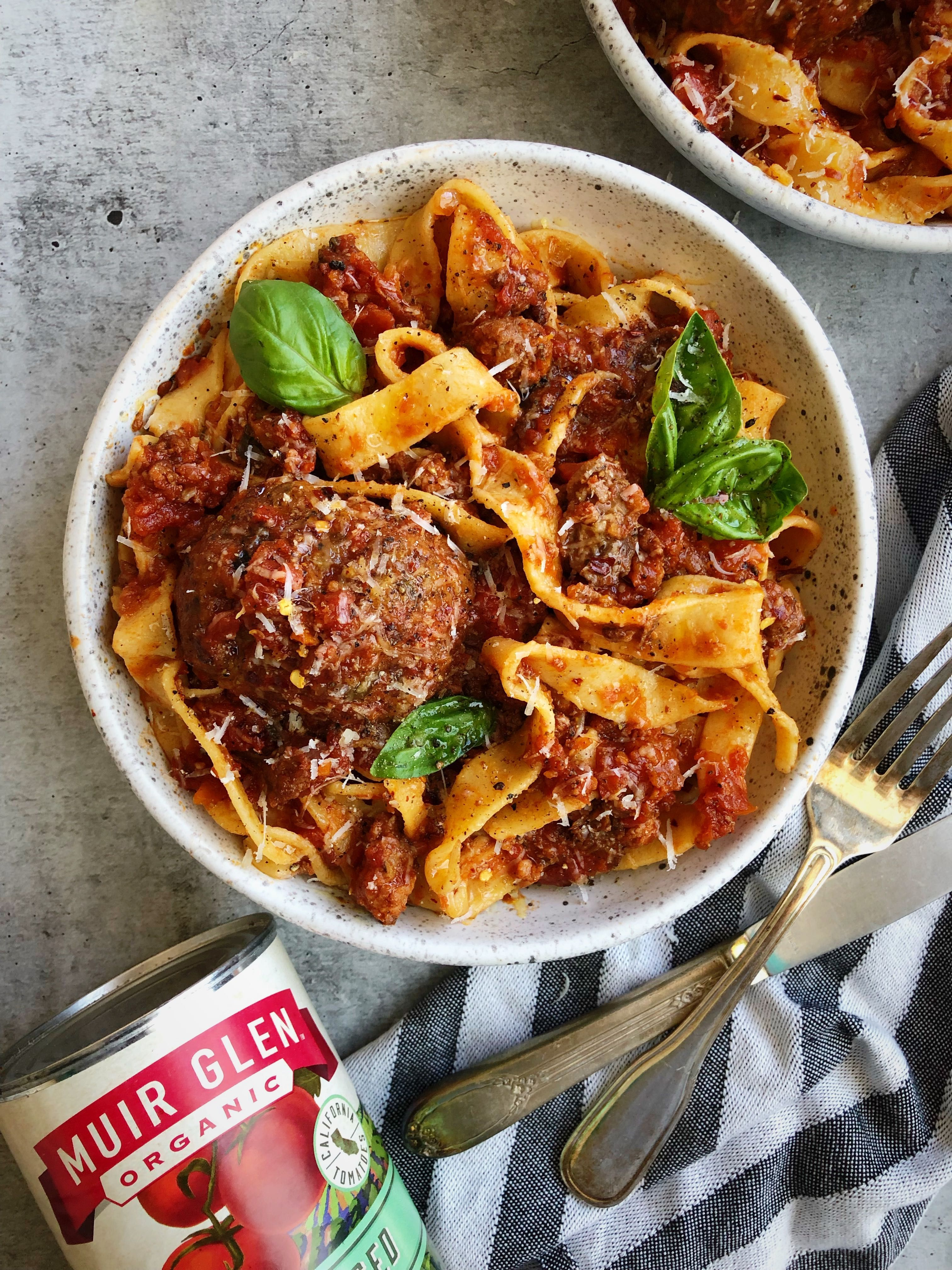 Ultimate Sunday Gravy with Short Ribs, Meatballs, and Sausage