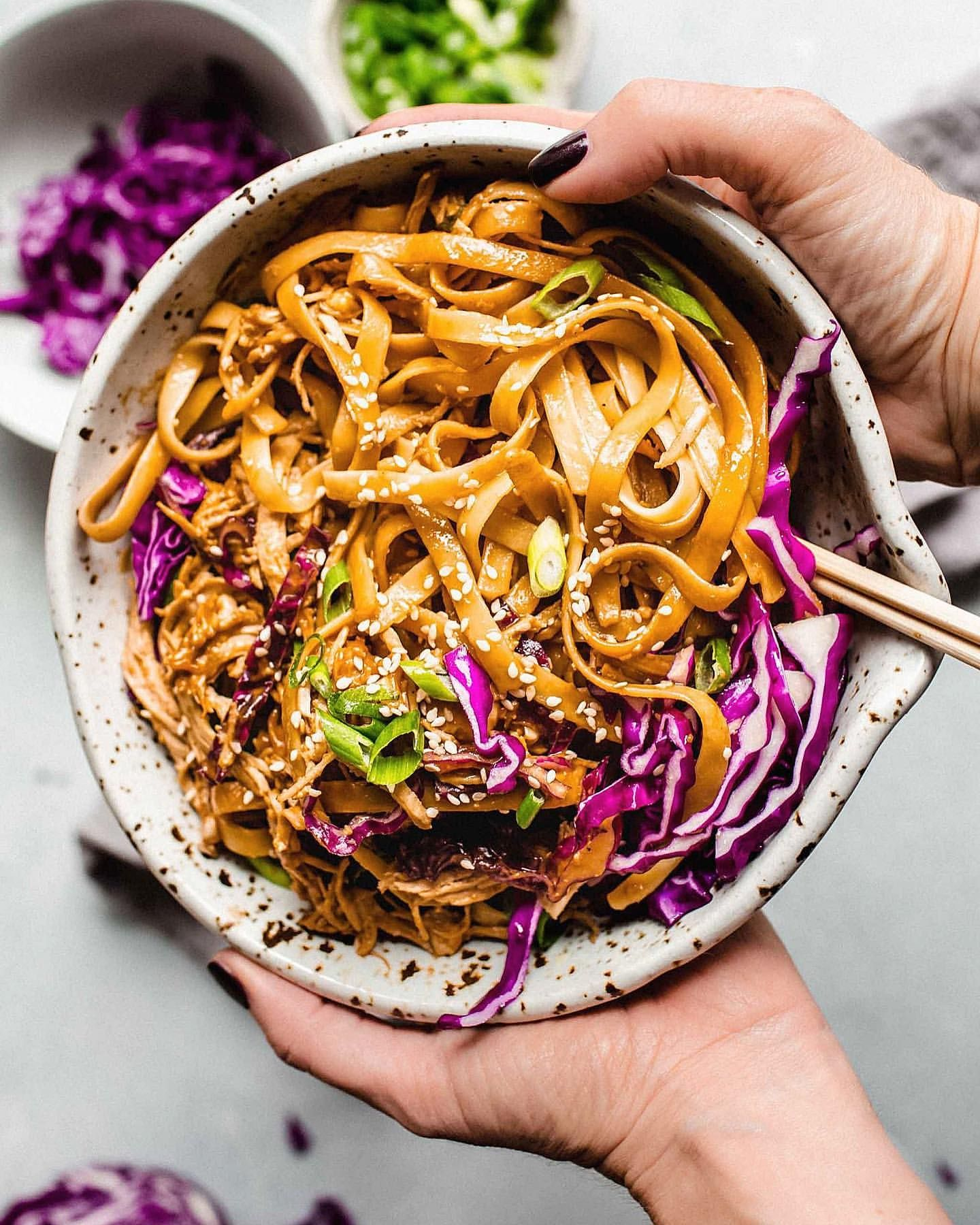 Sesame Noodles with Chicken and Peanut Sauce