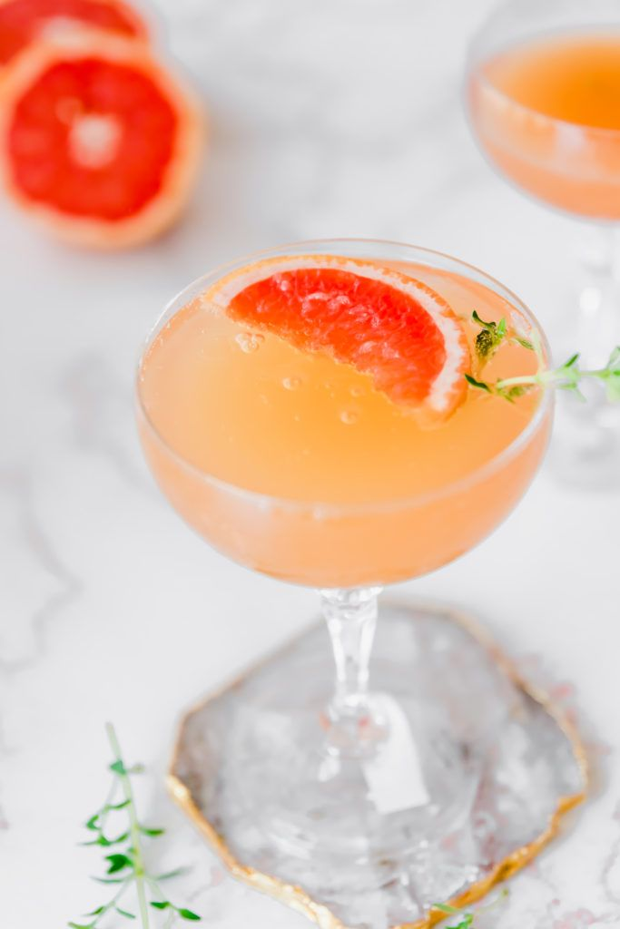 Thyme Grapefruit Champagne Cocktail