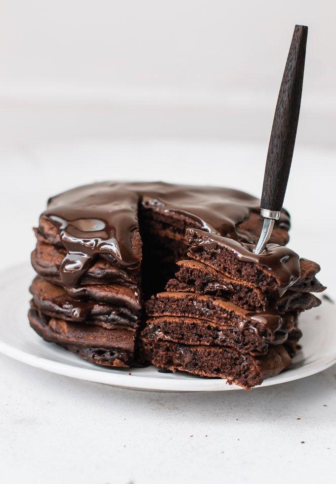 Dark Chocolate Pancakes Recipe By Pretty Simple Sweet The Feedfeed