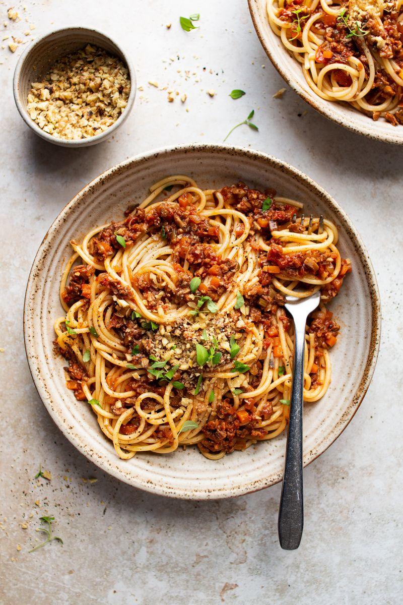 Mushroom Veggie Bolognese