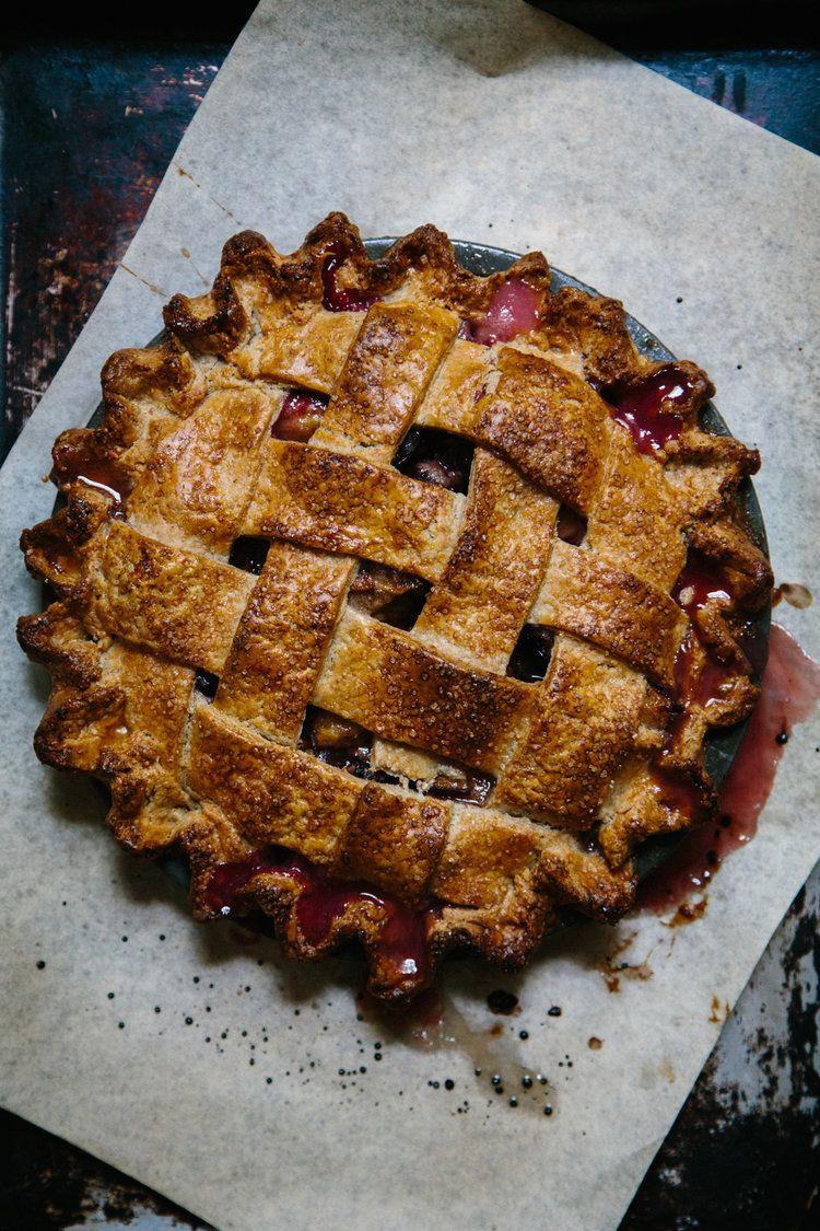 Plum Pie with Rye Crust