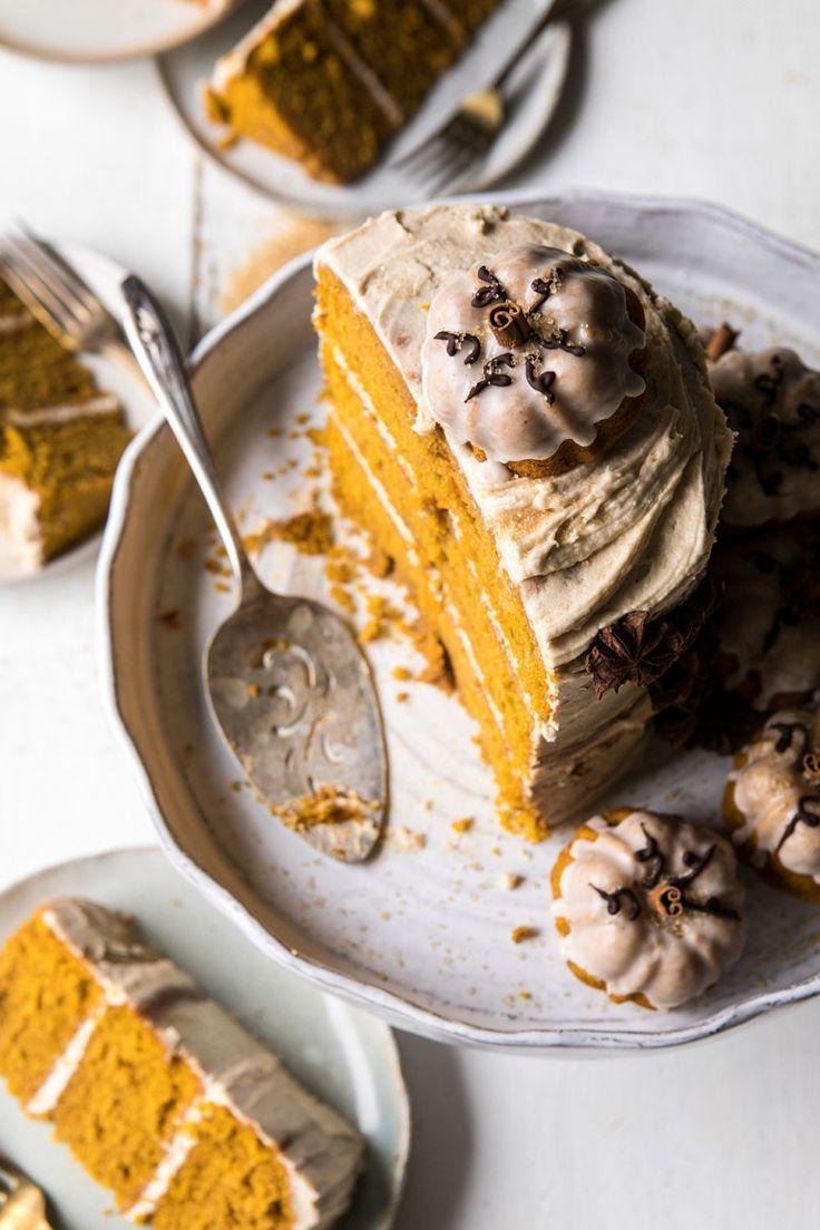 Pumpkin Pistachio Bundt Cake With Ricotta & Maple Frosting