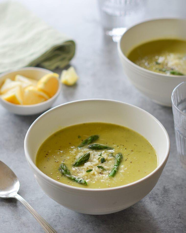 Fresh Asparagus & Basil Soup