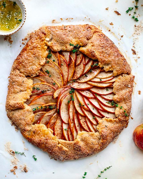 Apple Galette with Cheddar Thyme Crust