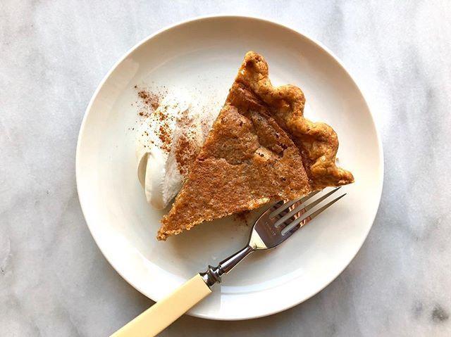 Brown Butter Bourbon Chess Pie