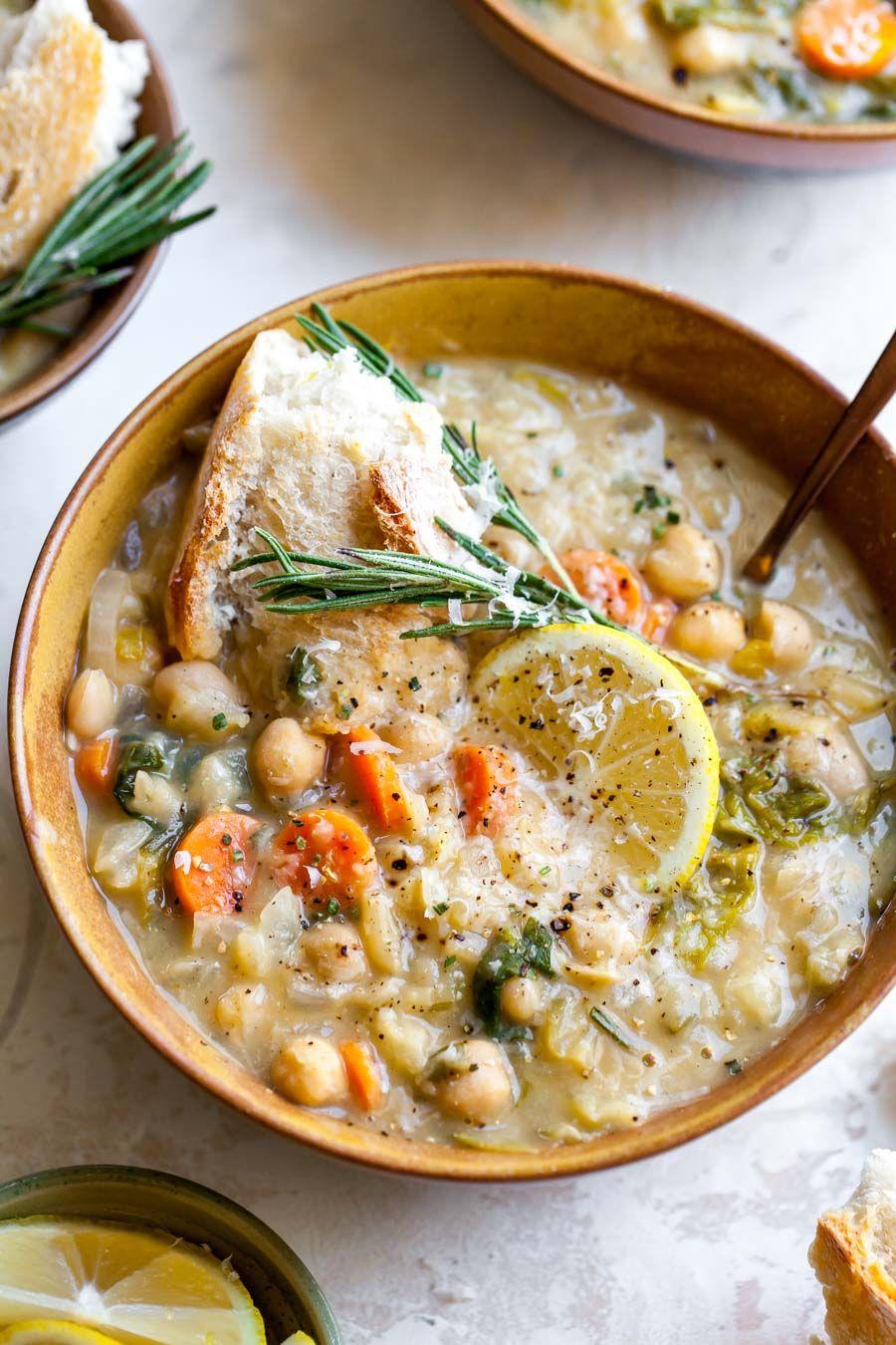Lemony White Bean Soup