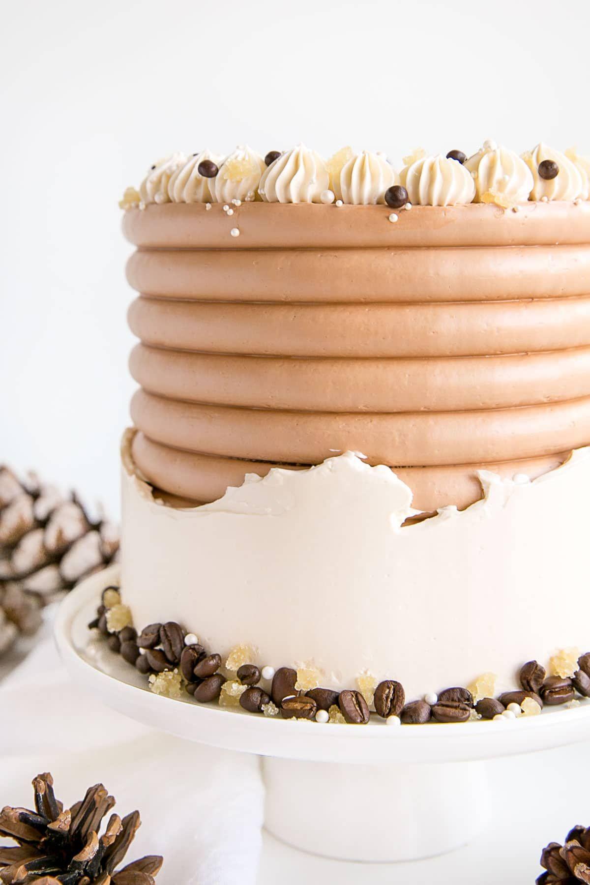 Gingerbread Cake with Espresso Buttercream