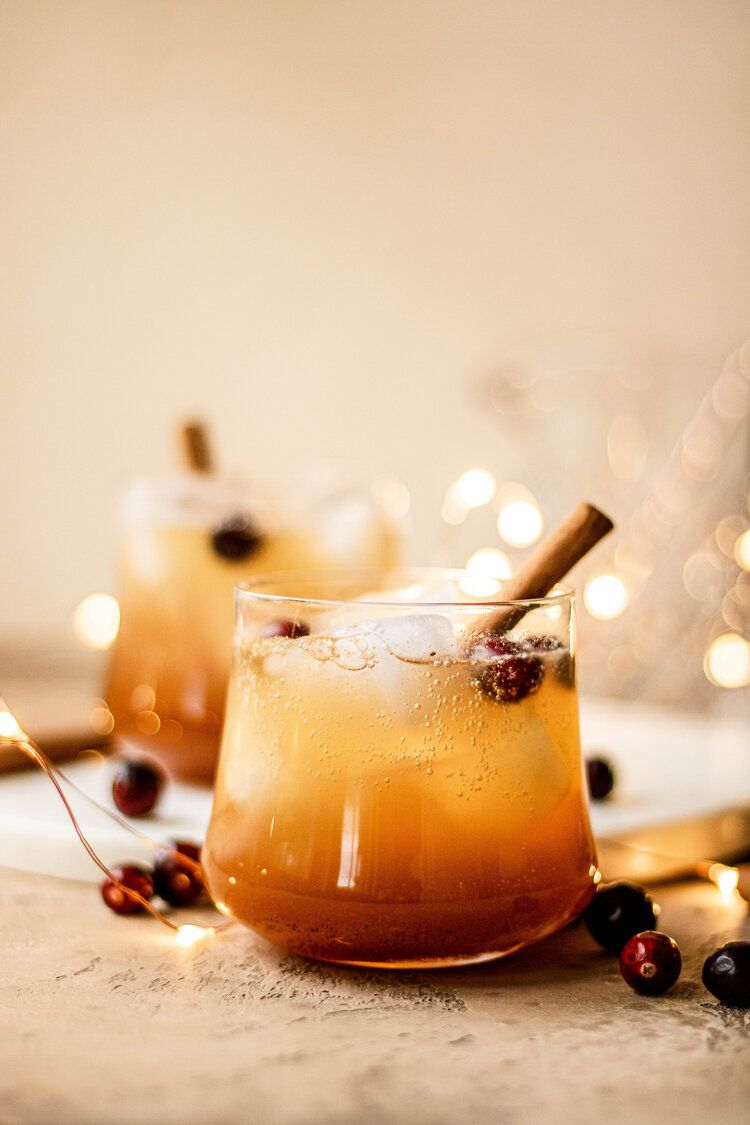 Apple Cider Bourbon Fizz