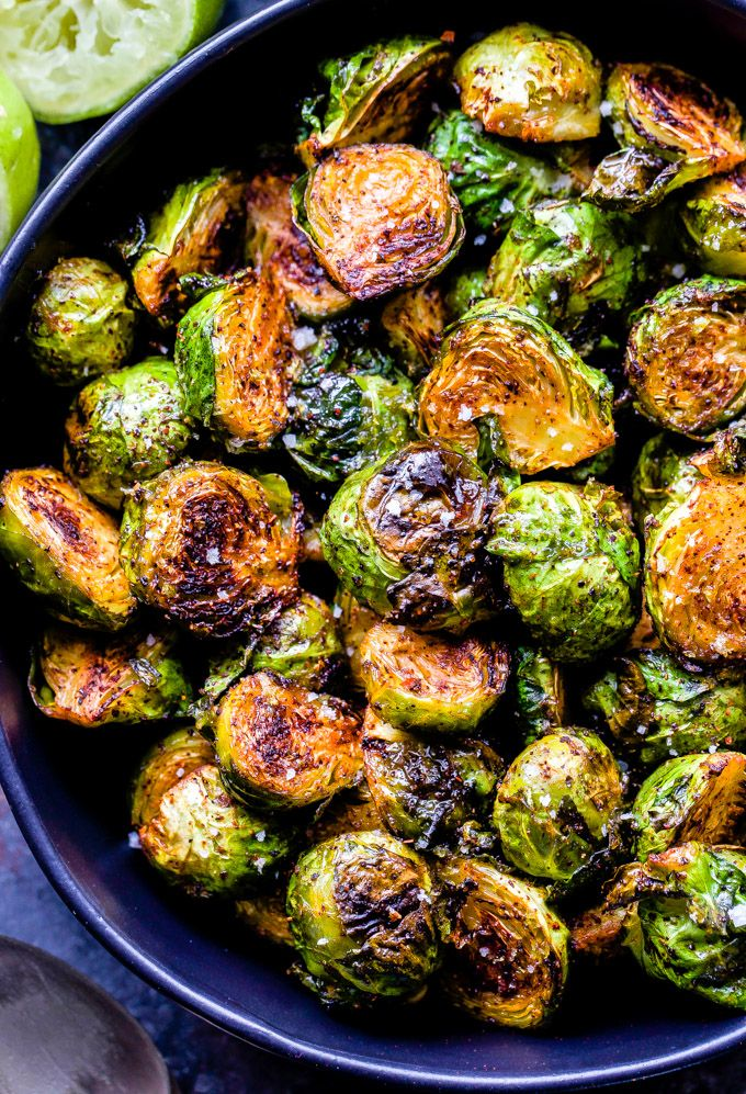 Roasted Chili Lime Honey Brussels Sprouts