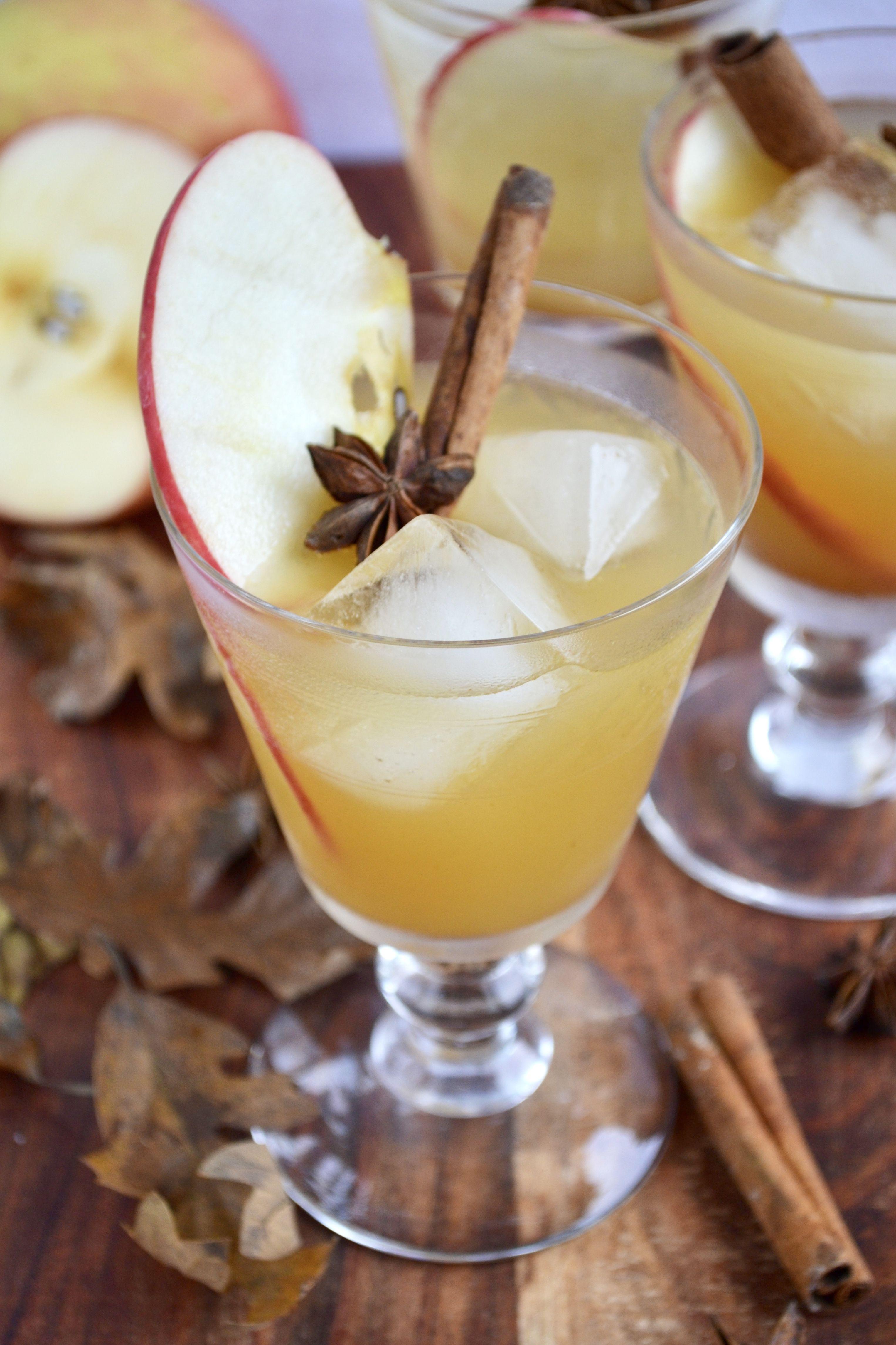Ginger Apple Cider Bourbon Smash