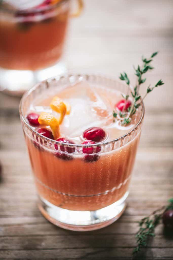 Orange Cranberry Whiskey Cocktail