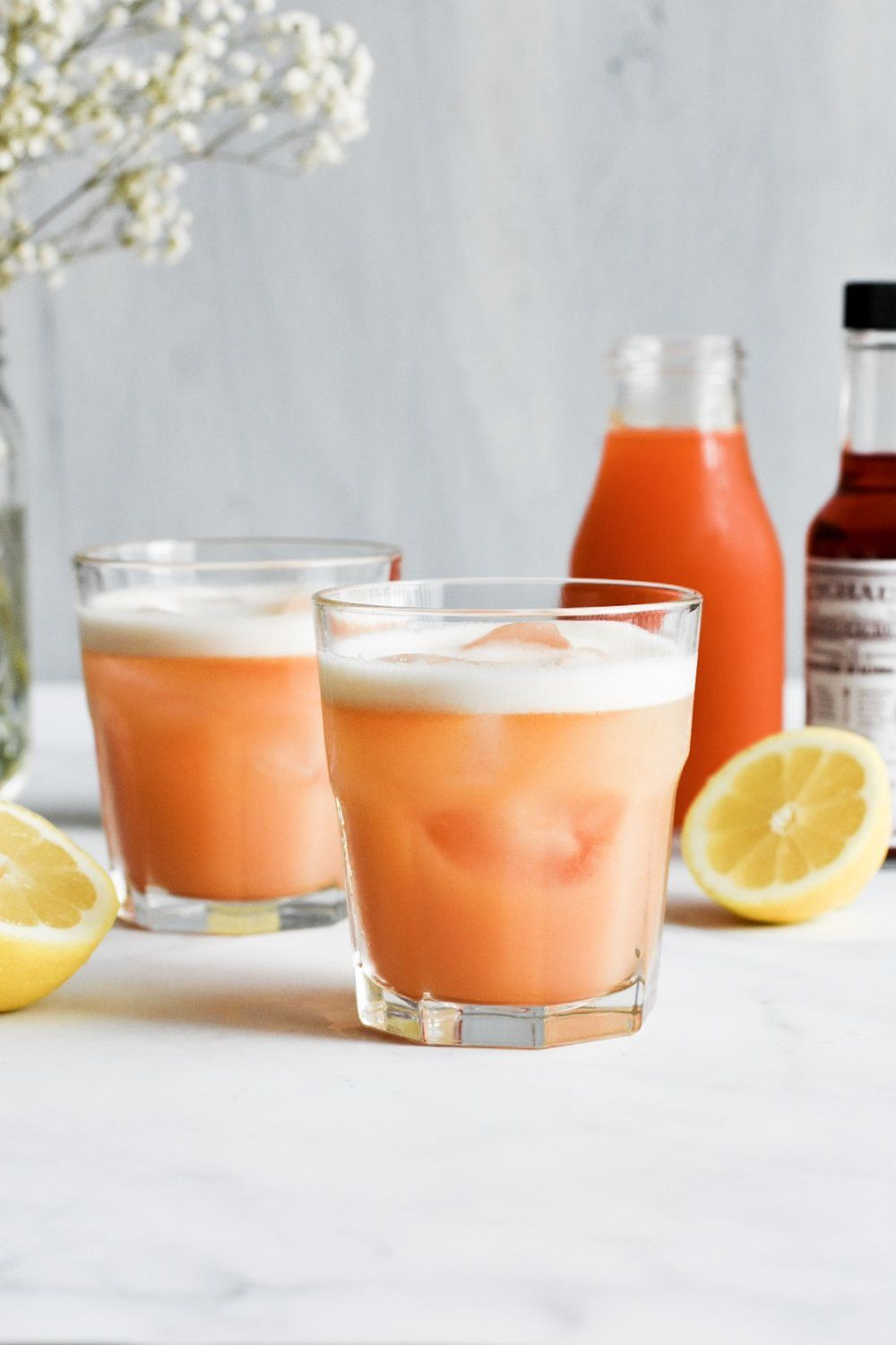 Whiskey Sour with Apricot Syrup