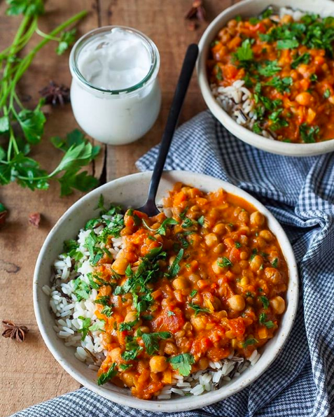 Lentil Chickpea Coconut Curry