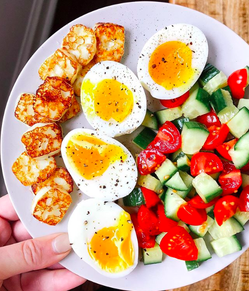 Soft Boiled Egg and Cheese Plate