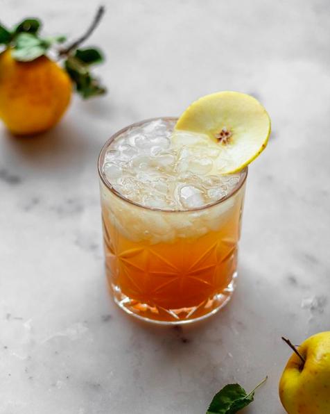 Apple Cider Ginger Bourbon Cocktail