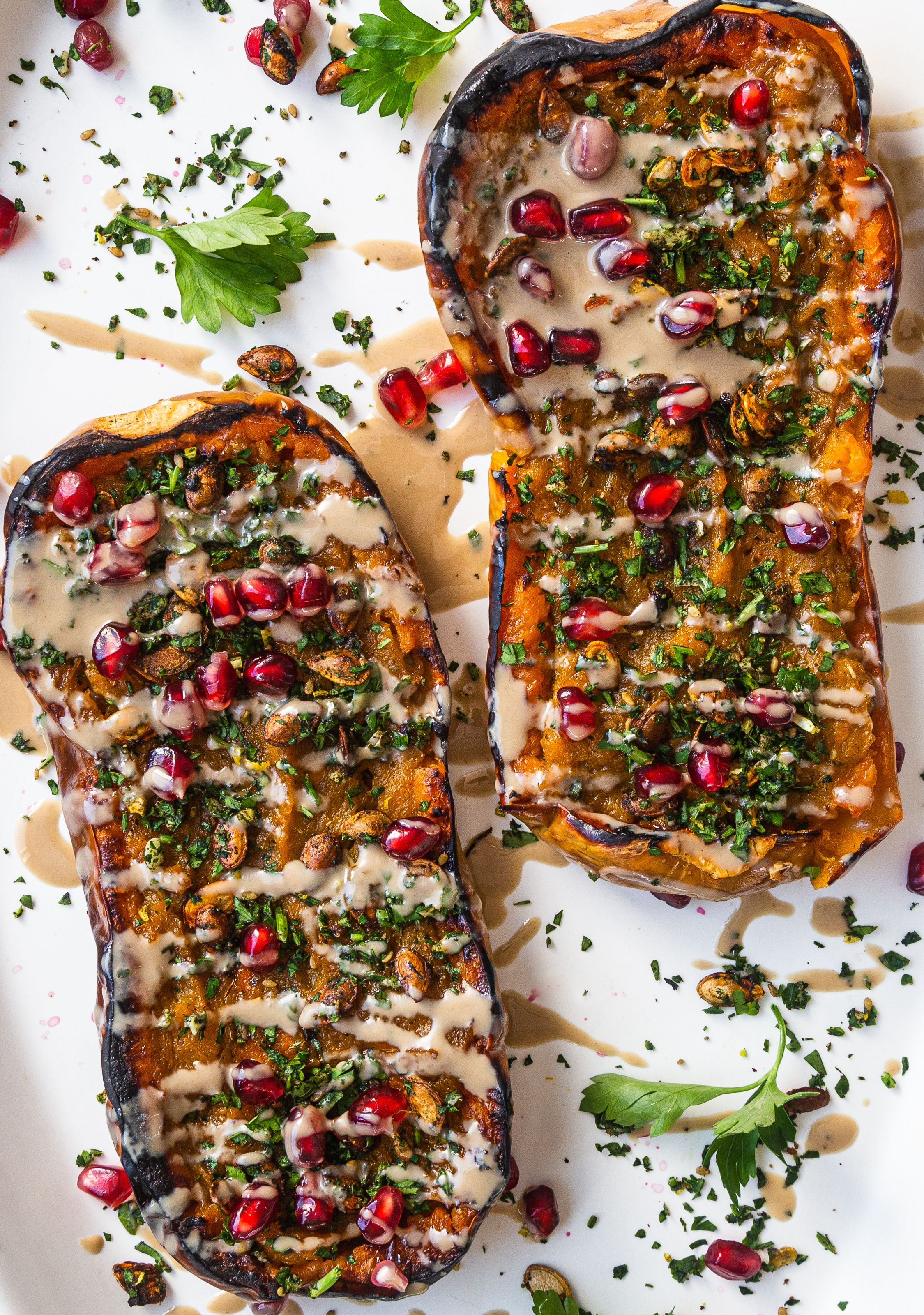 Twice Baked Butternut Squash With Squash Seed Gremolata By Racheldolfi Quick Easy Recipe The Feedfeed