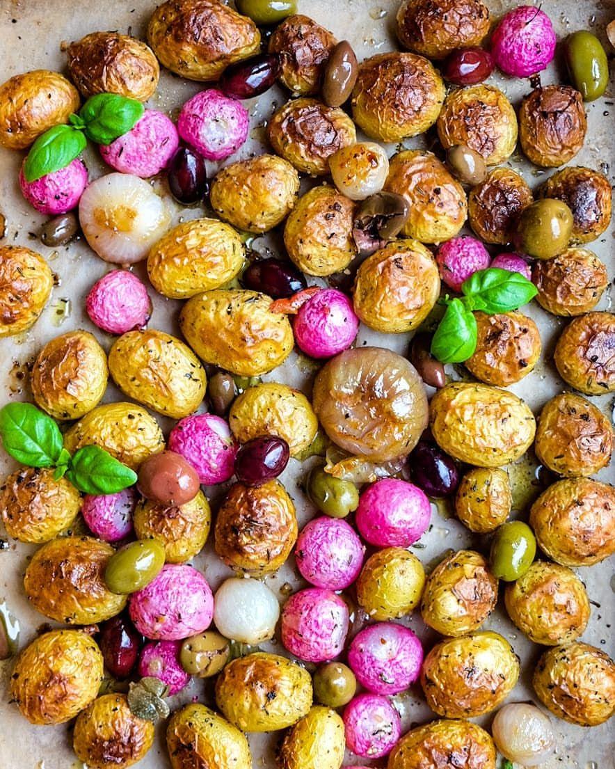 Roast Potatoes & Radishes
