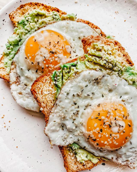 Egg, Avocado and Hemp Heart Toast