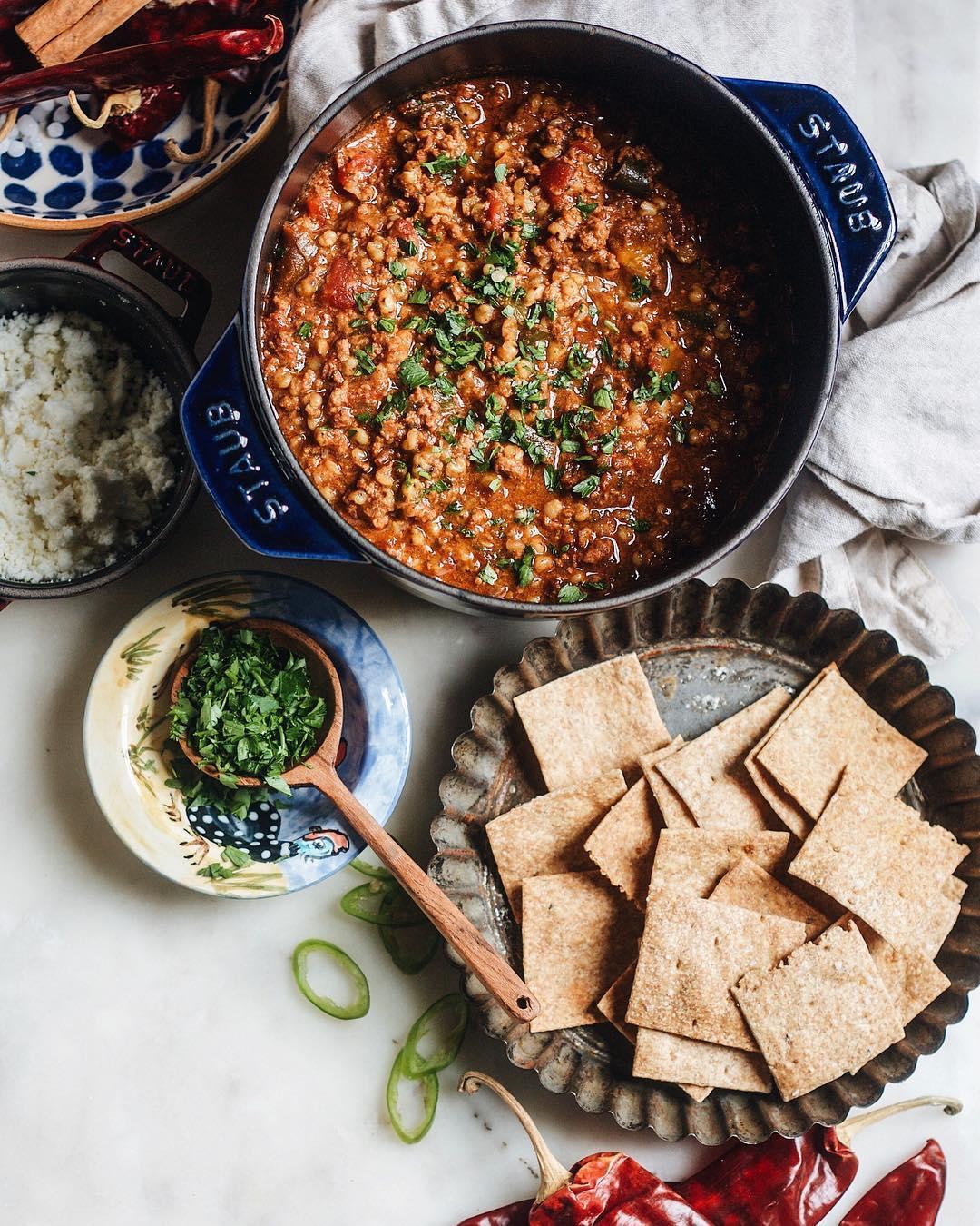Turkey and Sorghum Grain Chili