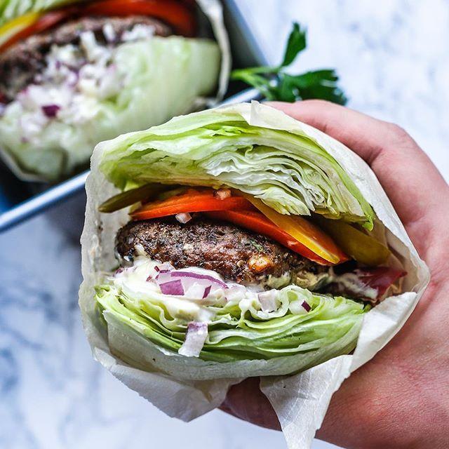 Lettuce Wrapped Elk Burgers