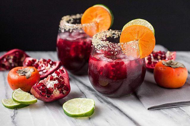 Vanilla Pomegranate Margaritas