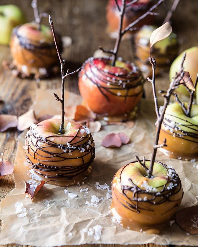 Chocolate Drizzled Cider Caramel Apples