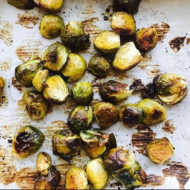 Maple Roasted Brussels