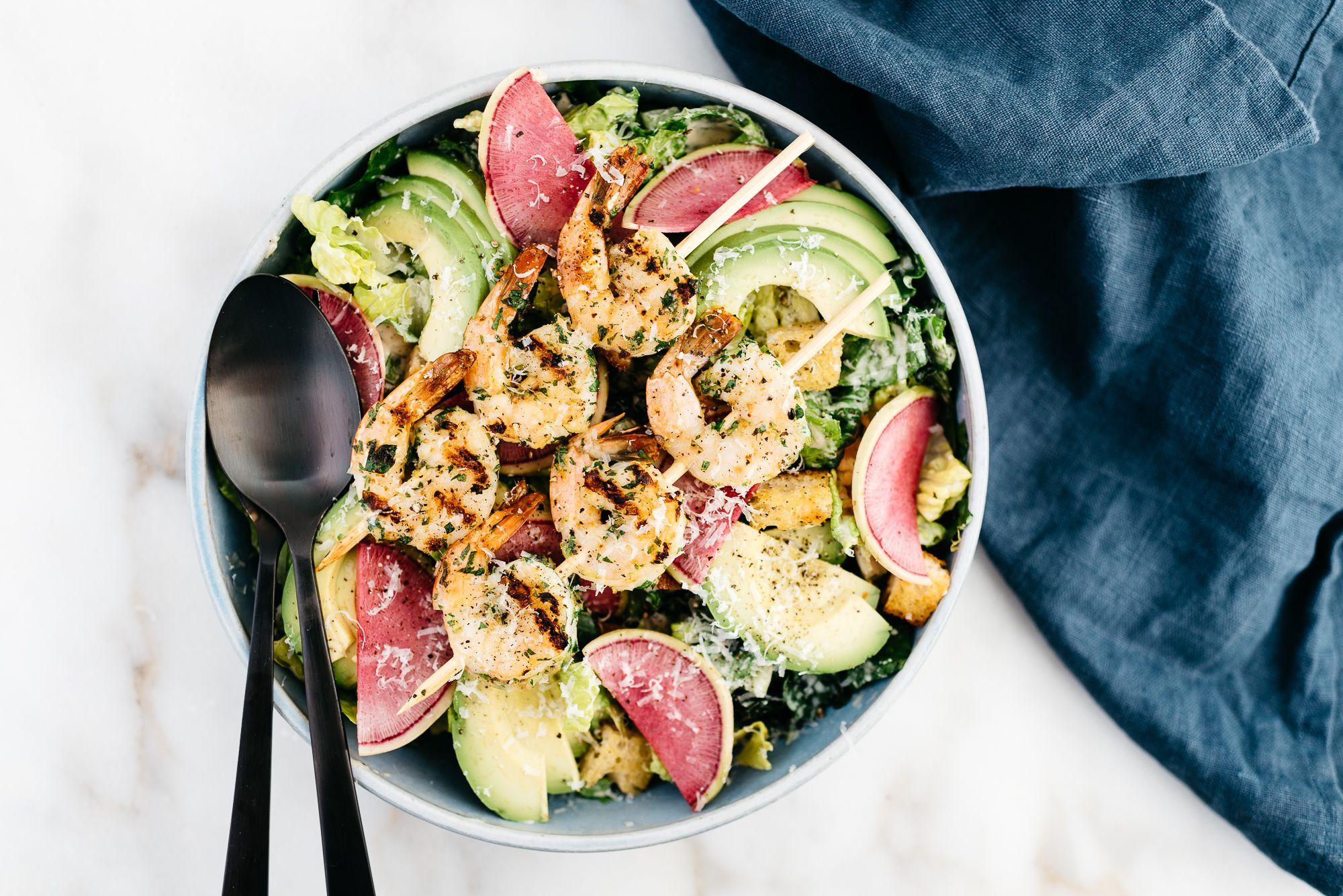 Kale Tahini Caesar Salad
