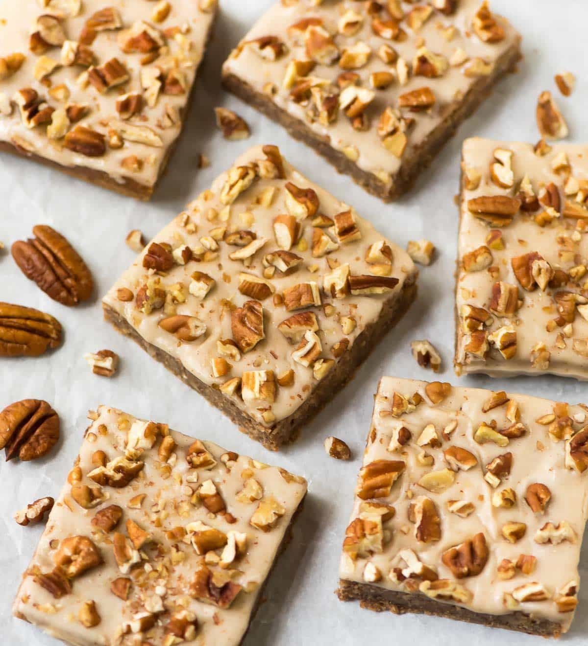 Blondies with Pecan and Maple