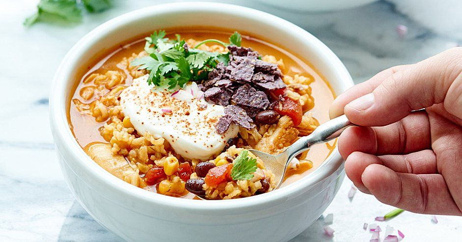 Mexican Style Chicken and Rice Soup