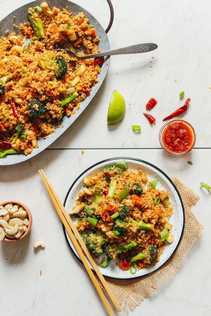 Vegetable and Quinoa Stir Fry
