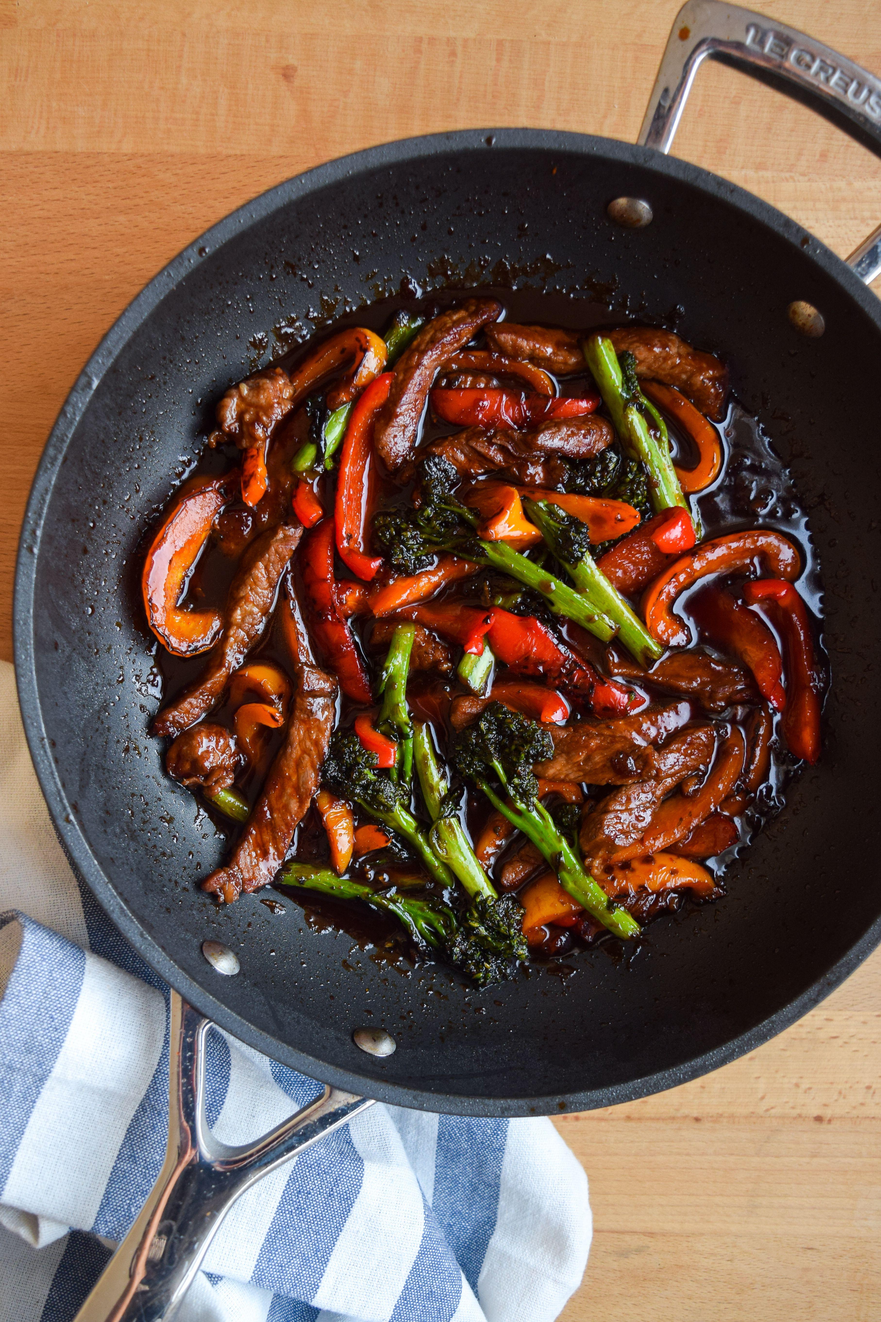 Spicy Korean Steak Pepper and Broccoli