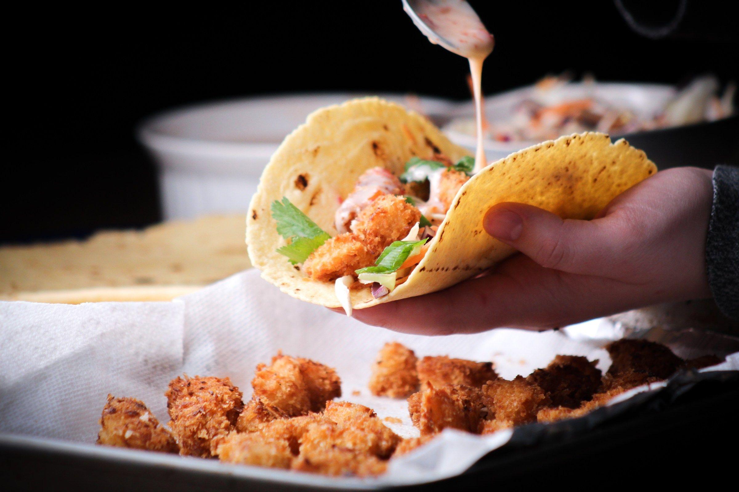 "Mushroom Coconut ""Shrimp"" Tacos"