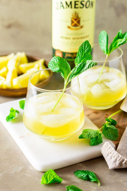Mint Pineapple Whiskey Smash