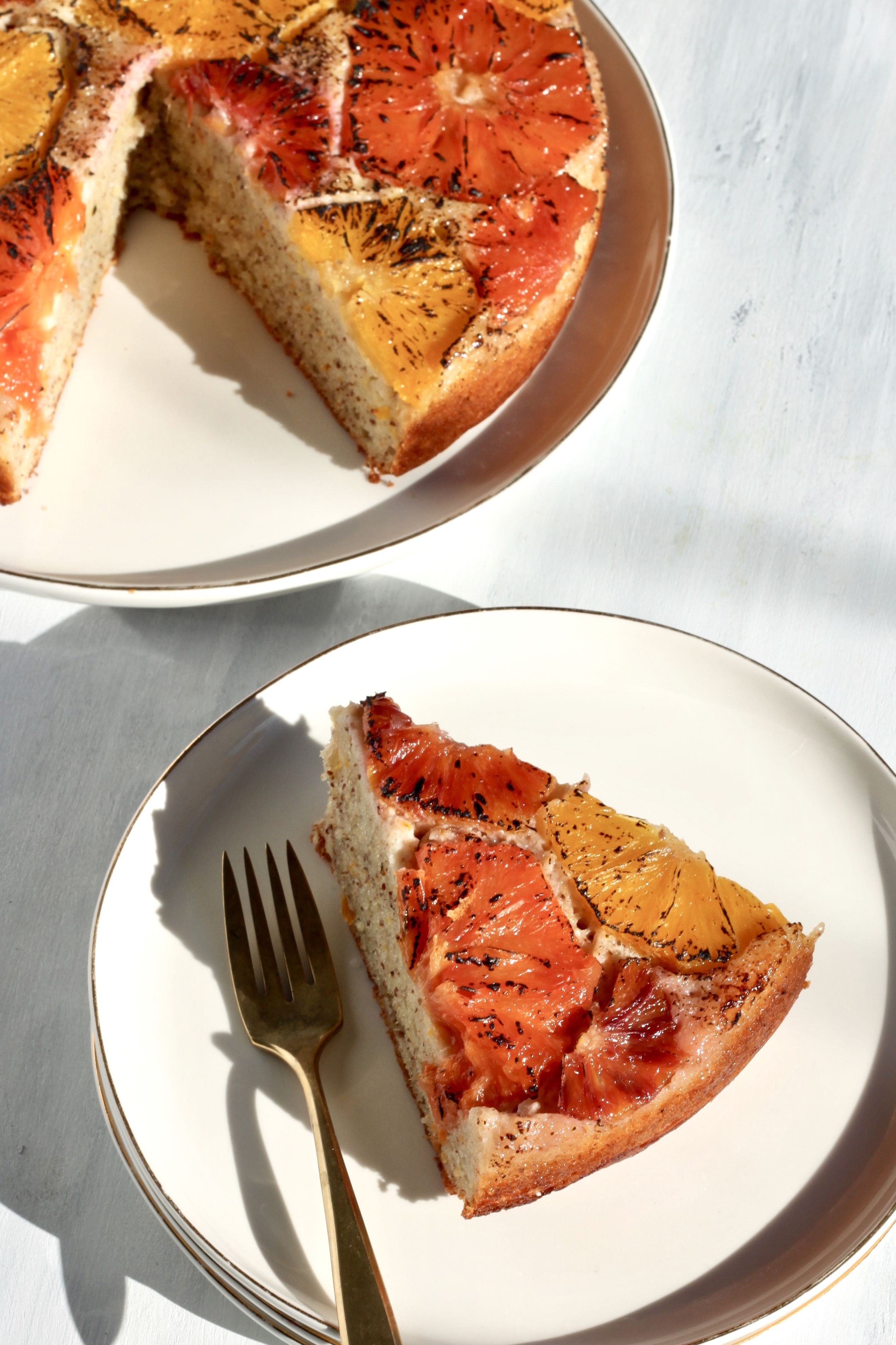 Citrus Upside Down Almond Cake
