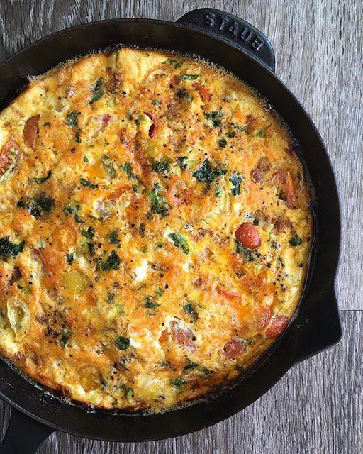 Chorizo and Veggie Frittata