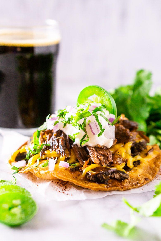 Beer Braised Spicy Shredded Beef Tacos