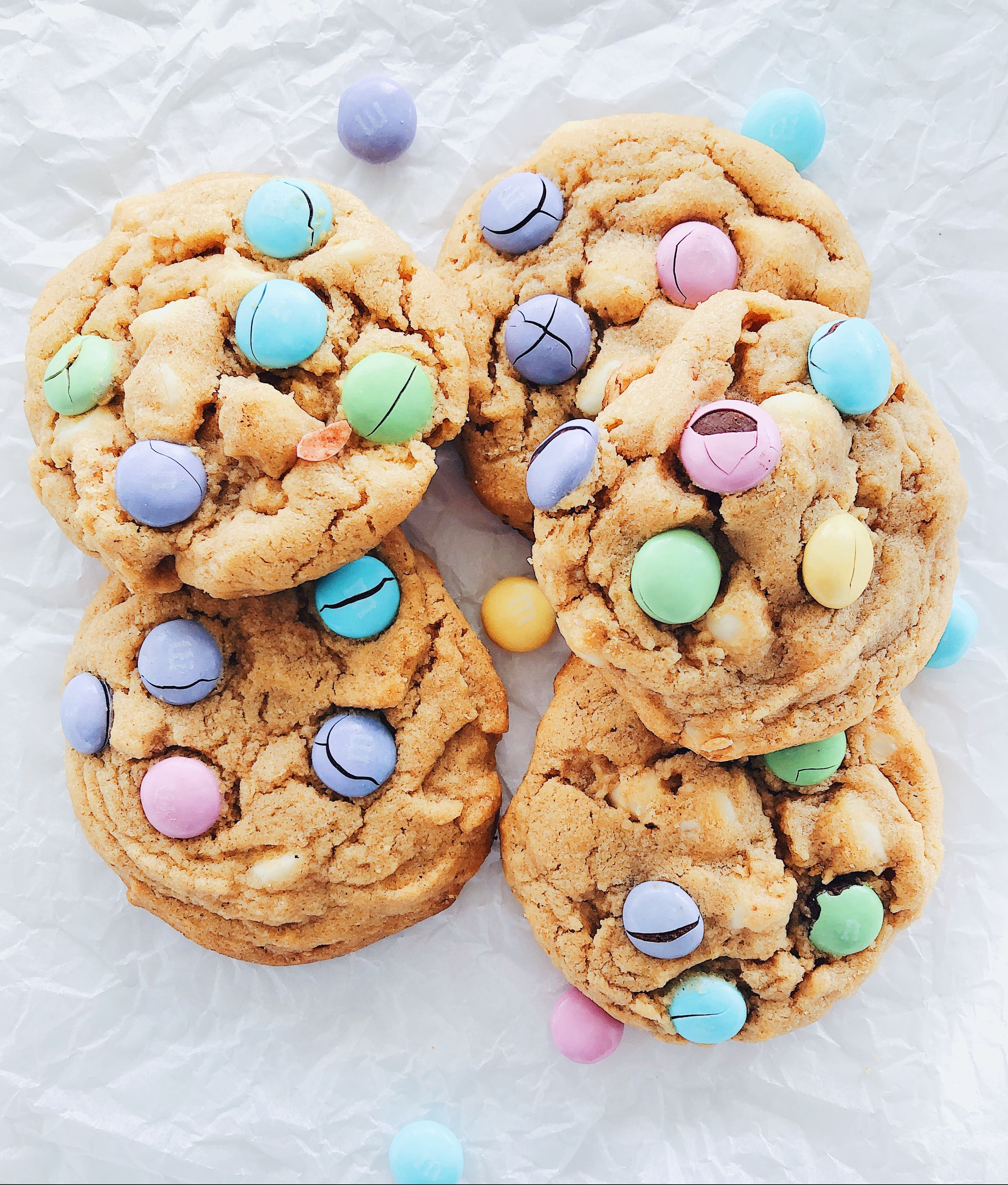 Soft Peanut Butter Chocolate Button Cookies
