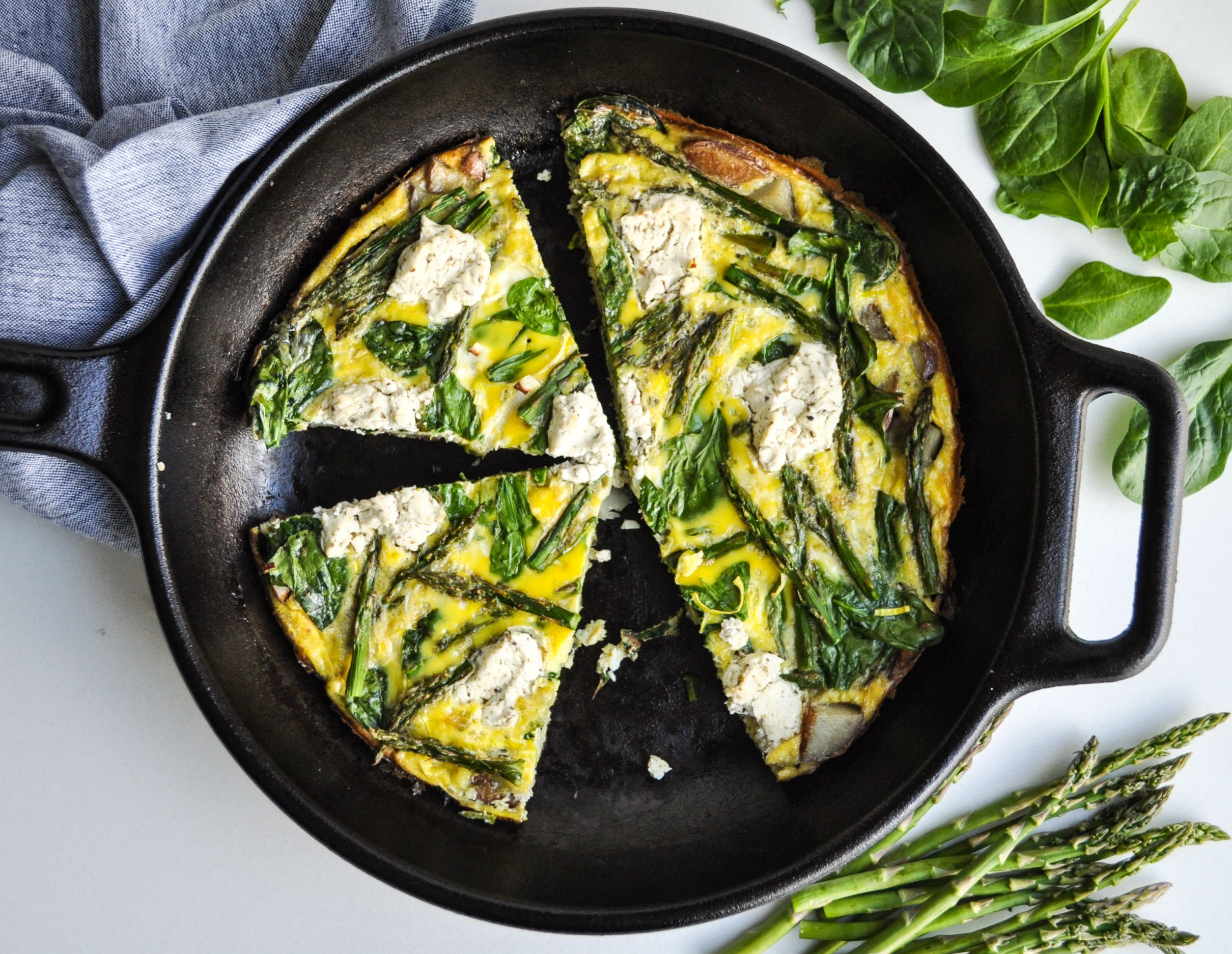 Goat Cheese and Spring Vegetable Frittata