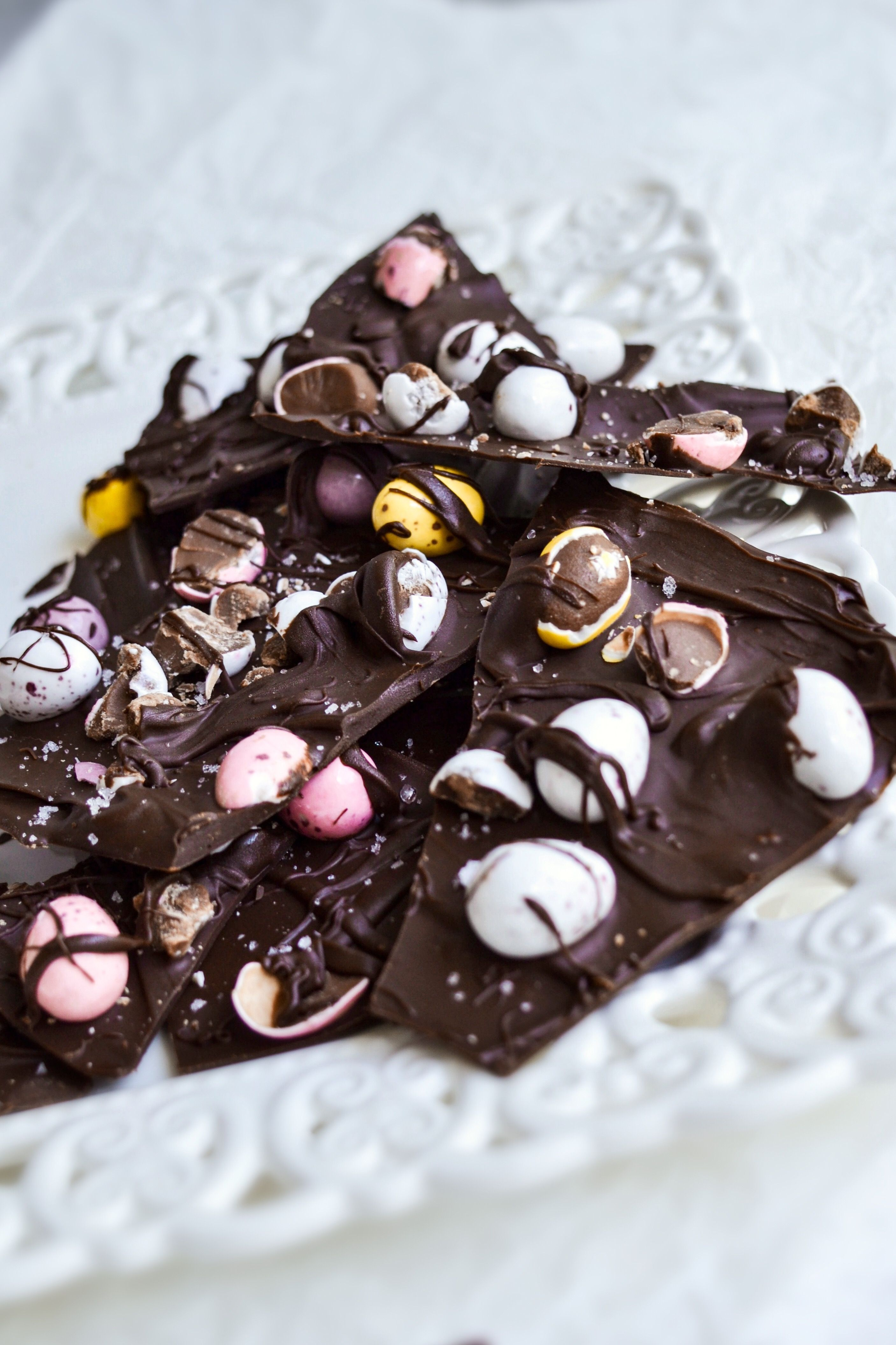 Four Ingredient Easter Chocolate Bark